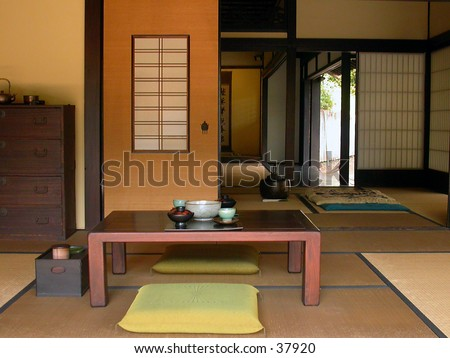 Traditional Japanese Tea House at the Huntington Library in California.
