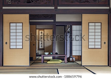 Traditional Japanese Tea Room - stock photo