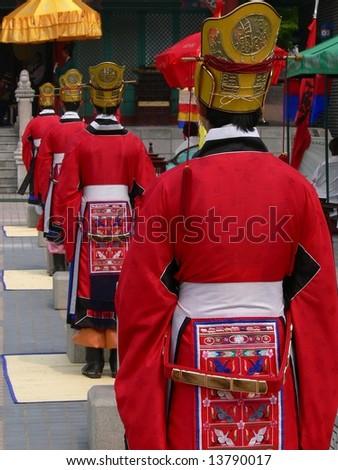 Traditional korean wedding scenery - stock photo