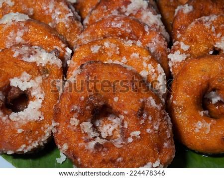 Traditional Malaysian dessert: doughnut  - stock photo