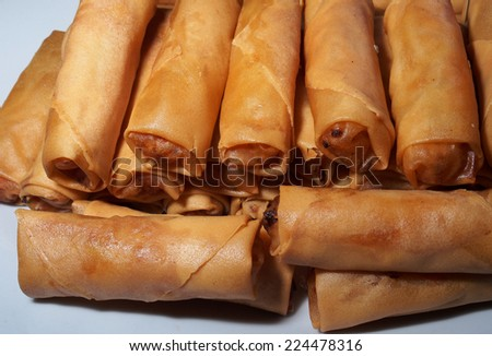 Traditional Malaysian dessert: popiah - stock photo