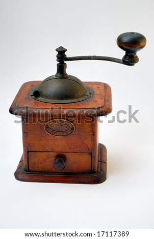 Traditional manual coffee grinder