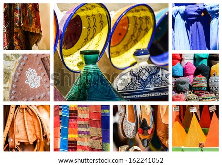 Traditional market in Morocco - stock photo
