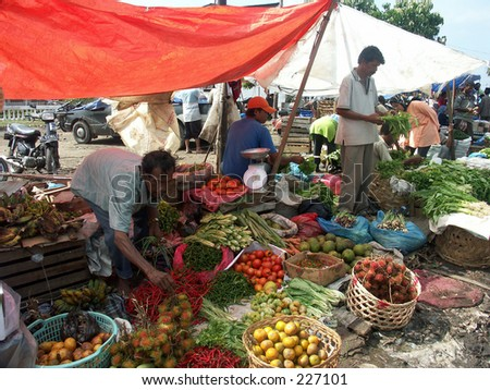 Traditional market pascatsunami at Aceh Indonesia.