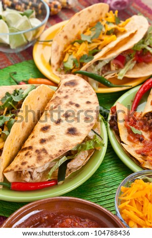 traditional mexican food - stock photo