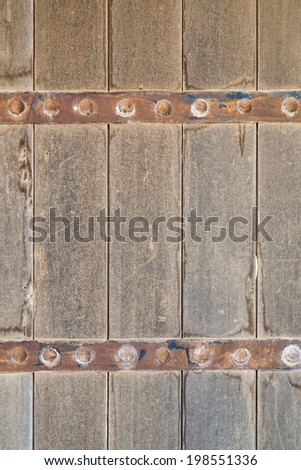 Traditional middle east arabic door - stock photo