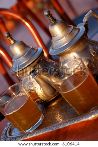 Traditional mint tea - stock photo