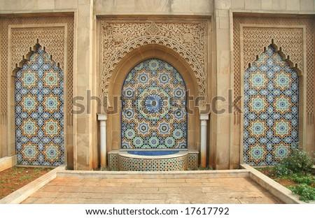Traditional moroccan ornament in Rabat - stock photo