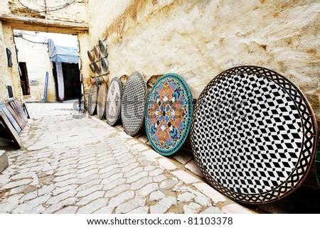 Traditional Moroccan tiles - stock photo