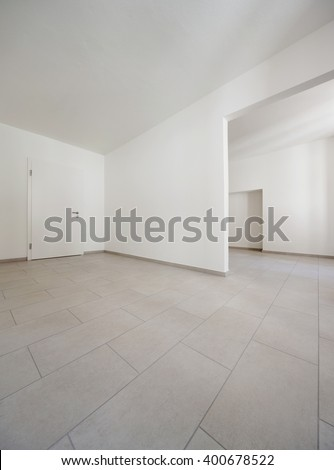 Traditional old house of central europe, empty rooms, interior