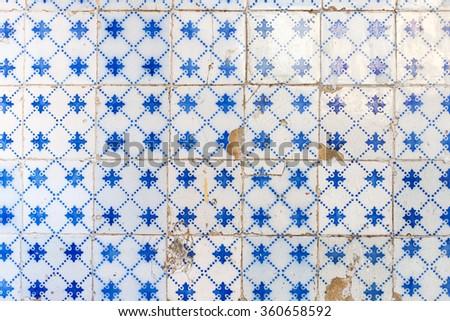 Traditional ornate portuguese decorative tiles azulejos - stock photo