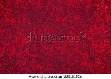 Traditional paisley pattern cashmere pashmina sample - stock photo