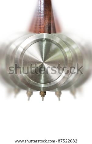 Traditional pendulum clock motion - stock photo