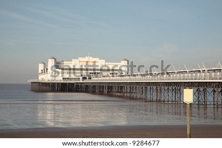 Traditional pier at Weston super Mare before the fire of 28 July 2008