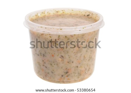 Traditional Polish grease spread called smalec isolated on white background - stock photo
