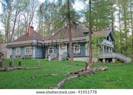 Traditional polish noble house. - stock photo