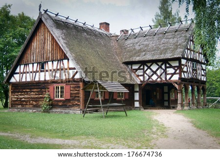 Stock photos royalty free images vectors shutterstock - Traditional polish houses wood mastership ...