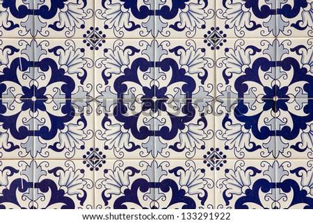 Traditional portuguese mosaic - stock photo