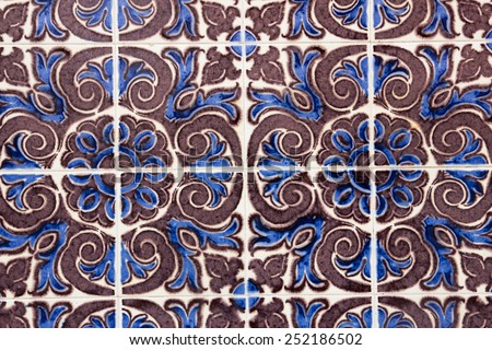 Traditional portuguese tile   - stock photo