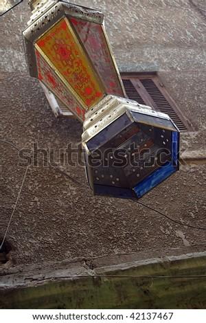 traditional ramadan lantern islamic cairo eygpt - stock photo