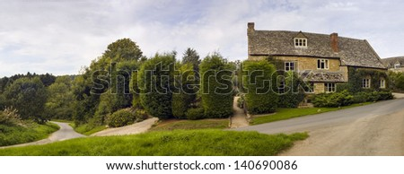 Traditional rural homes and immaculate gardens.
