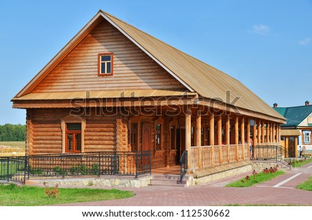 Traditional russian rural wooden house - stock photo