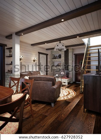 Farmhouse stock images royalty free images vectors for Craftsman farmhouse interior