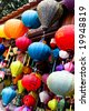 Traditional silk lanterns from Vietnam - travel and tourism. - stock photo