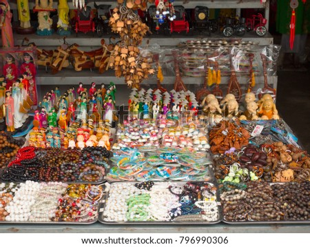 Traditional souvenir shop in Vietnam