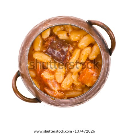 Traditional spanish beans stew native from asturias region for Asturias cuisine