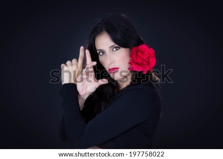 traditional Spanish dancer from Andalucia - stock photo
