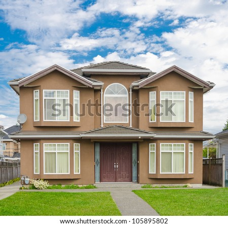 Traditional ( standard ) now days middle class home in the suburbs of Vancouver. Canada. - stock photo