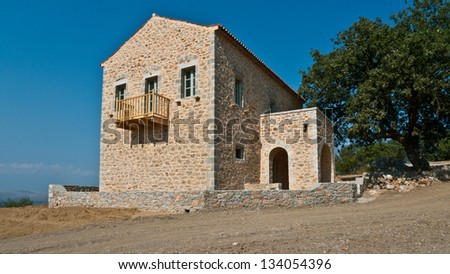 Traditional Stone houses in Greece