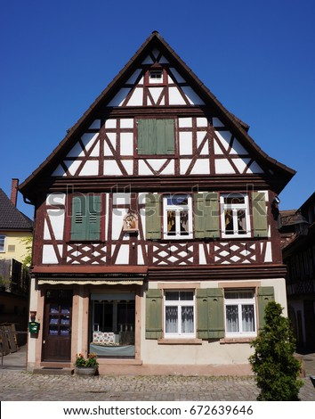 Traditional Style German House In The Village Of Haslach Im Kinzingtal Schwarzwald Germany
