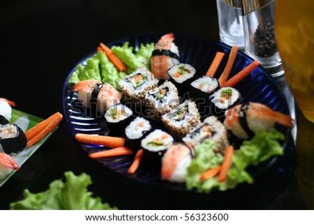 Traditional sushi susi (japanese food) - stock photo