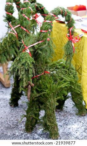 traditional swedish christmas goat a christmas decoration made of sprig - Traditional Swedish Christmas Decorations