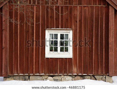 Traditional swedish house in Skansen, Stockholm - stock photo