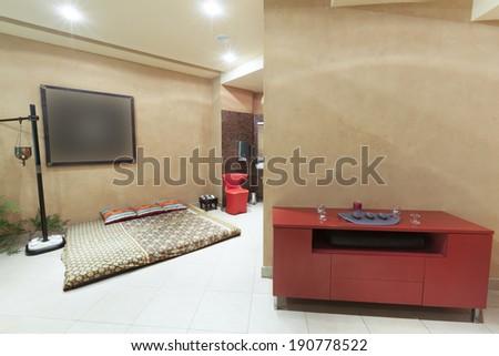 Traditional Thai massage room - stock photo