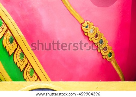 traditional Thai style art background. - stock photo