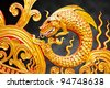 traditional Thai style art painting isolated on background black - stock photo
