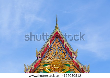 Traditional Thai style church in temple, Thailand