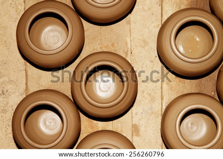 Traditional Thai style Clay pottery - stock photo