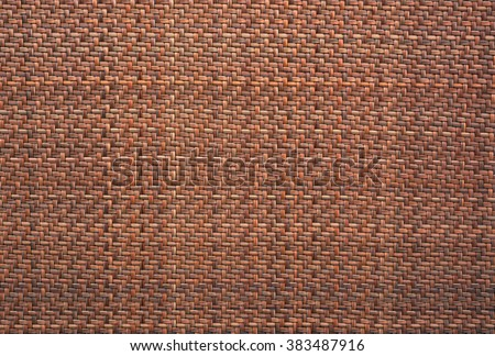 traditional thai style pattern nature background of brown handicraft weave texture wicker surface for furniture material. - stock photo
