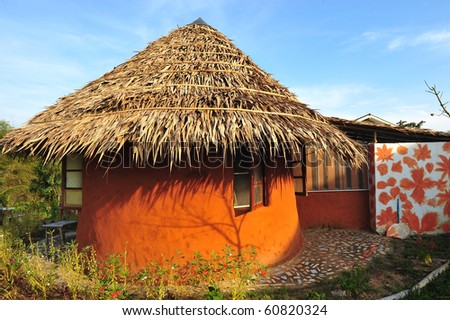 Traditional thailand soil hut