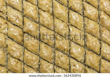 traditional Turkish dessert baklava - stock photo