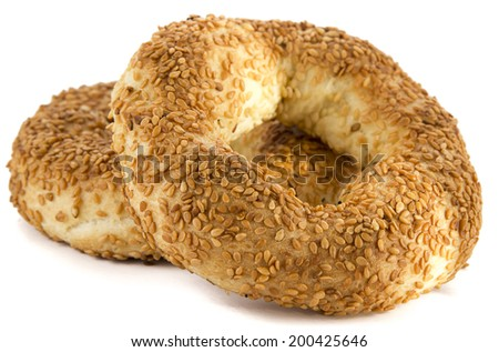 Traditional Turkish pastry rings consumed in holy days called kandil simidi    - stock photo