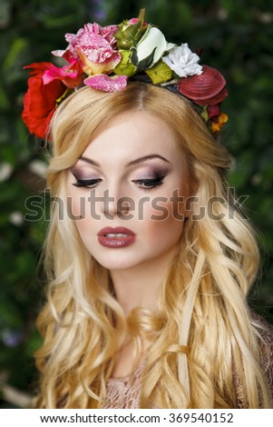 Traditional ukrainian accessories, close up shot  - stock photo