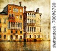 traditional venice - artwork in painting style - stock photo
