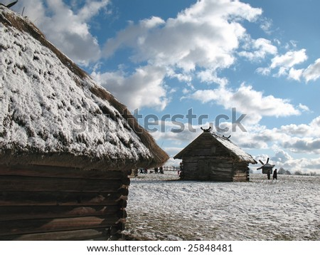 traditional wooden architecture - stock photo