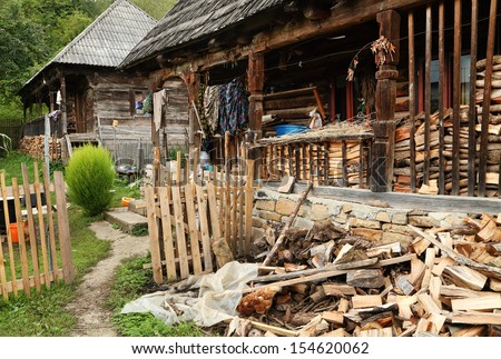 Traditional wooden house in Maramures, Romania